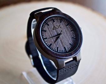 Wood Watch for men, Wooden Watch, Mens Wooden Watch, Gift for Him, 5 Year Anniversary, Groomsmen Gift, Wedding Gift, Wrist Watch, Wood Watch