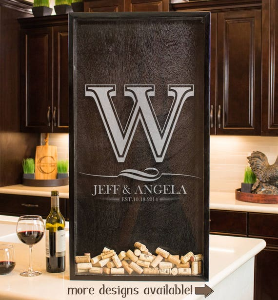 Wine Cork Wedding: Wine Cork Holder Drop Box Wedding Guest Book Wedding For