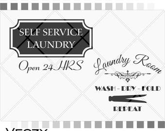 Laundry sing, Self service laundry svg files, laundry room, wash, dry, fold, repeat svg quotes, svg files for cricut,