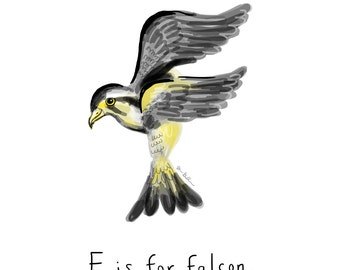 F is for Falcon Print