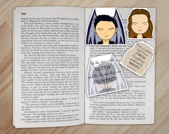 A Court of Mist and Fury Magnetic Bookmarks Set - Rhysand and Feyre Clips