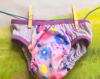 Size LARGE girls flower waterproof trainer underwear cloth pull ups- FREE SHIPPING