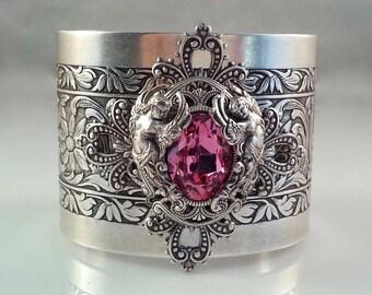 Summer Outdoors - Pink Angel Jewelry - Angel Cuff - Baroque Jewelry - Wedding Jewelry - Dawn Santucci - Metal di Muse - Angel Jewelry