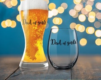 Dad of Girls, New Dad Gift, Dad Beer Glass, Beverage Cold Brew Father, Dad Wine Glass, Dad Beer Glass, Cool Dad, Dad Mug, Father Coffee