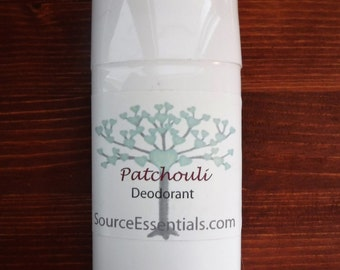 Natural Deodorant/ PATCHOULI DEODORANT / Chemical Free / Aluminium Free/ All Natural/ Essential oils/ Fresh Scent/ Natural Body Care