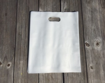 Extra Heavy Duty - 20 Pack Large - 12x15 Clear HIGH Density Plastic Retail Merchandise Bags