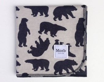 Gender Neutral Swaddle Blanket, Woodlands Receiving Blanket, Woodlands Swaddle Blanket, Woodlands Blanket, Gender Neutral Flannel Swaddle