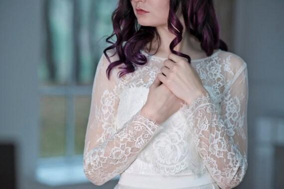 Primrose - bridal lace cover up