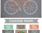 Embroidery Kit, Hand Embroidery Kit, DIY Embroidery, Modern Embroidery Kit, DIY Embroidery Kit, Bicycle Embroidery, I Heart Stitch Art