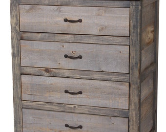 Natural Barn Wood Gray 4-Drawer Chest