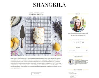 "NEW ""Shangrila"" Blogger Template - Premade Blogger Template - White Blogspot Theme"