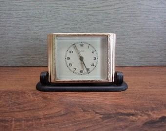 Vintage Soviet Alarm Clock, Slava Retro Clock, Old Mechanical Alarm Clock, Retro Desk Clock, Soviet Era Clock, USSR Working Clock