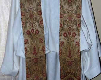 Tapestry  Clergy Stole  Traditional Priest Vestment Anglican Catholic Lutheran Methodist Episcopalian
