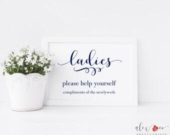Ladies Bathroom Printable. Ladies Bathroom Sign. Ladies Bathroom Print. Wedding Bathroom Sign. Wedding Bathroom Basket. Wedding Signs.