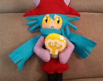 Felt handmade Niko plush(unofficial)from One Shot videogame,gamer plush,one shot niko plush,niko,one shot plush,geeky plush