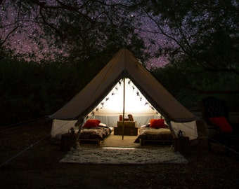 Stout Bell Tent - ULTIMATE SERIES  Vintage Style Glamping - Canvas Festival Tent - Tipi, Yurt, Music Festivals Boho