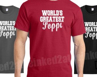 World's Greatest Poppi tshirt gifts for grandpa mens tshirts grandpop gifts