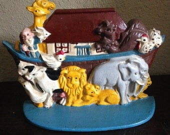 Cast Iron Noah's Ark Doorstop