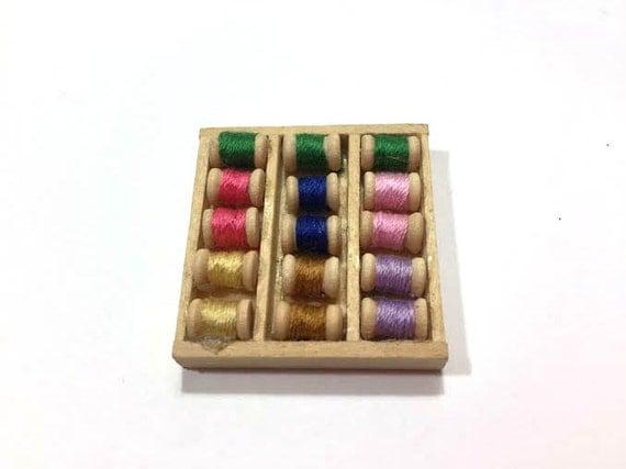 Miniature Sewing Threads Dollhouse Thread Supplies