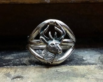 Sterling Silver Deer Ring
