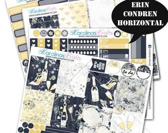Celebration Stickers, Party Planner Kit 200+ New Years Planner Stickers, for Erin Condren Horizontal Planner Sticker #SQ00320-ECH
