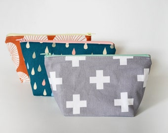 First aid pouch, makeup bag, gift for nurse, cosmetic pouch, medium zipper pouch, EpiPen pouch
