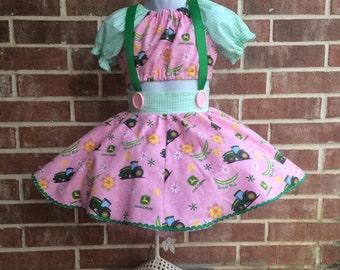Boutique custom handmade pageant girls John Deere outfit, OOC, pageant wear, farm wear, John Deere