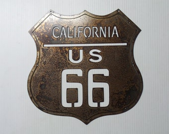 Route 66 California - Metal Sign  R2