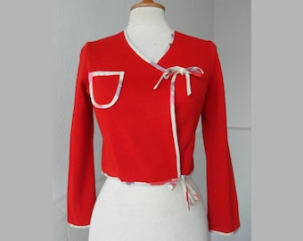 Deadstock Red Vintage Top // Confezioni GM // Art. Betty // Made In Italy