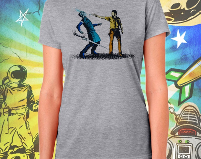 Walking Dead's Rick Grimes Ends The Night King's Winter Gray Women's Shirt