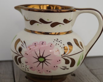 Vintage Cream Colored Old Castle Lusterware Creamer - Made in England