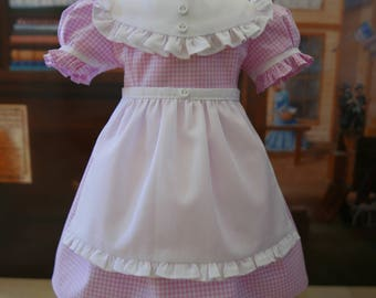Pink Gingham Country Dress with Apron fits American Girl 18 Inch Dolls