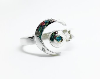 Enterprise ring star trek sterling silver ring