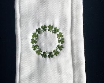 Shamrock Wreath Burp Cloth