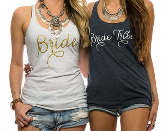 Bride Tank Top. Bride Shirt. Bride Tank. Bachelorette Tank Top. Bachelorette Shirt. Future Mrs Shirt. Mrs Tank Top. Bachelorette Party Tank.