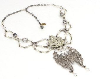 Bridal Statement Jewelry, Bohemian Wedding Jewelry, Victorian Bridal Jewelry, Romantic Statement Jewelry, Victorian Wedding Jewelry