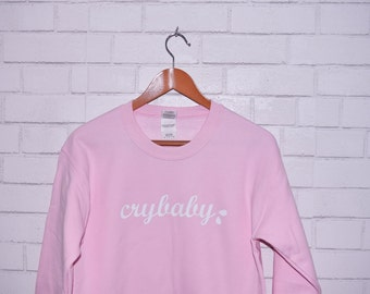 Pink Crybaby Sweatshirt Soft Pink Cozy Cry Baby Sweater Pullover