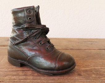 Baby Shoe 1923, brass dipped