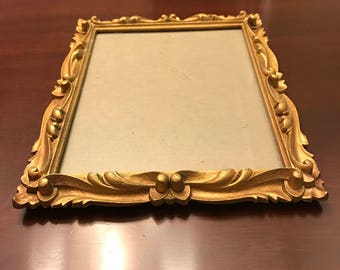 gold photo frame molded frame for 8 x 10 picture hollywood regency art nouveau style