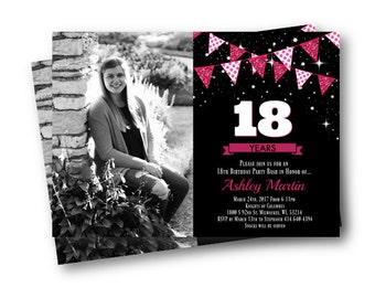 18th birthday invitations | Etsy