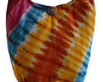 Boho tie dye bag, bauchtasche, Hobo, Hippie, Gypsy crossbody bag, Hippy,