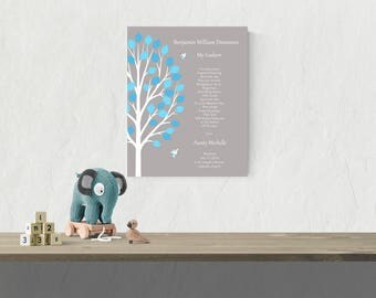 Godson Baptism Gift Baby Boy Baptism Gift From Godmother Baptism Keepsake Christening Gift Baby Boy Gift Baby Boy Nursery Wall Art - 47877