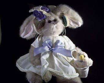 "Bearington Easter Bunny Rabbit Tulip 14"" and Ducky Duck"