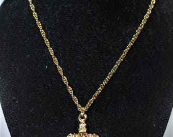 Avon 1994 Kids Birthstone Cross Necklace (November Child)<Calming Citrine Stone>REDUCED