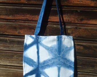 Shibori handbags Blue bag Indigo bag Tie dyed bag Boho chic Indigo bag Gift under 25