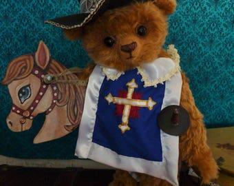 D'Artgnan handmade bear, unique piece