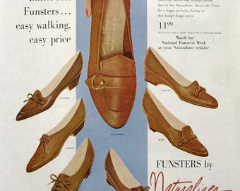 1960 Naturalizer Shoes Ad - Funsters by Naturalizer - 1960s Brown Shoe Company Advertising