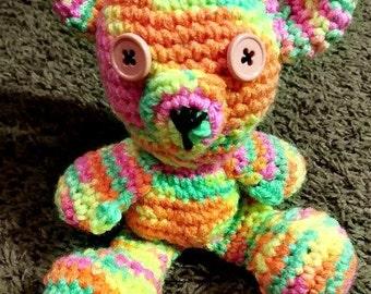 Rainbow Sorbet Handmade Crochet Bear