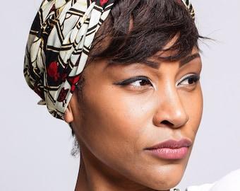 Red White print African head wraps Scarves   African Headwraps   African Hair Wraps   African Headscarf   African Head Ties   Ankara Print