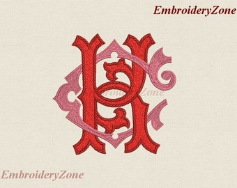 Double antique monograms in old style C & K intertwined Machine embroidery designs. 2 monograms C and K. Fonts CK KC. 4x4 5x7 6x10 8 sizes.